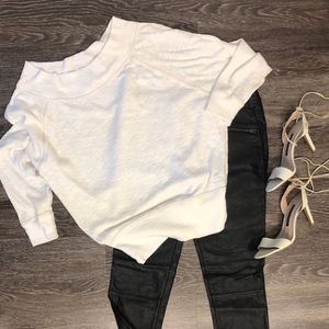 free people off white off the shoulder top sz m